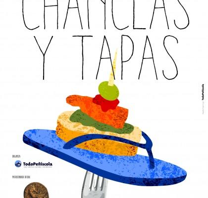 Cartel Chanclas y tapas 2015