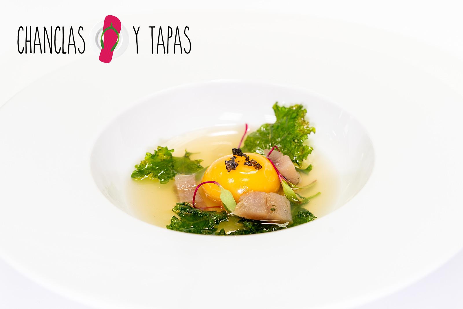 Yema, sardina y kale